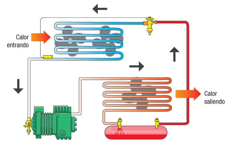 Circuito Basico De Refrigeracion : Ciclo básico de la refrigeración